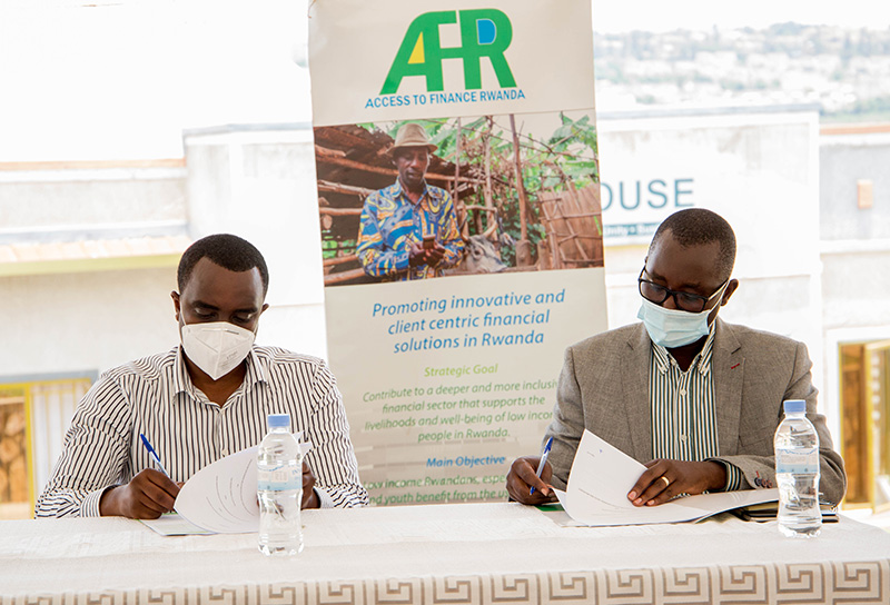 AFR, AMIR, 11 SACCOs sign agreement to drive the automation of banking operations and staff capacity building
