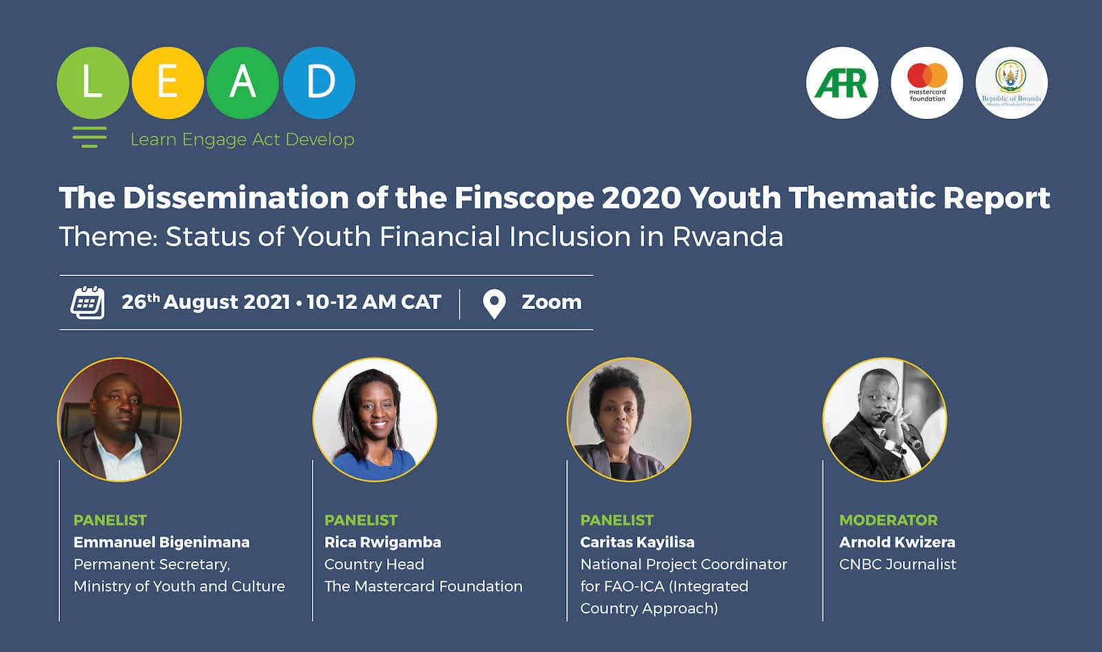 AFR LEAD Series: Dissemination of  the Finscope 2020 Youth thematic report