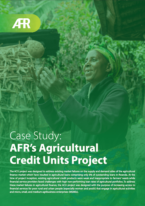 """<span itemprop=""""name"""">Case Study: AFR's Agricultural Credit Units Project Test</span>"""